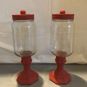 Red Chalk Paint Mason Jars for Sale in Bluffdale, UT