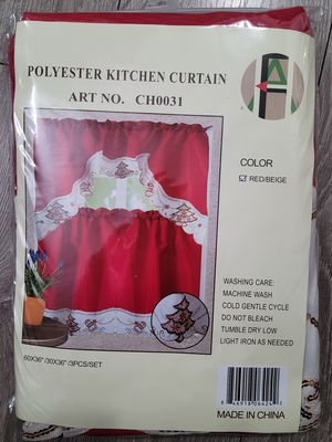 Christmas kitchen curtains for Sale in Alhambra, CA