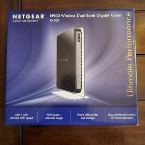 NETGEAR N900 DUAL BAND GIGIBIT WIFI WIRELESS ROUTER R4500 for Sale in Hawthorne, CA