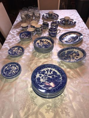 Blue Willow Japan, dishes, antiques, cups, plates, bowls, gravy bowl, china for Sale in Caryville, TN