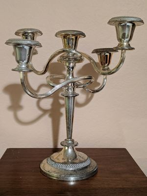 "11"" Vintage Silverplated Candelabra Candle Holder for Sale in Montebello, CA"