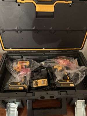 Dewalt 20V MAX Cordless Drill/Driver & Impact Kit w 2 Batteries & Case for Sale in Minneapolis, MN