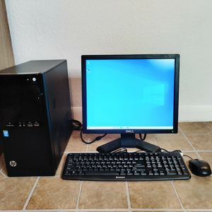 "Hp Complete Desktop Computer Intel Pentium Quadcore 2.50ghz, 4gb Ram, 350gb Hd, Wifi, 19"" Dell Monitor, New Keyboard And Mouse for Sale in Miami, FL"