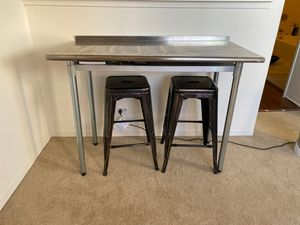 Metal table & barstools for Sale in Chicago, IL