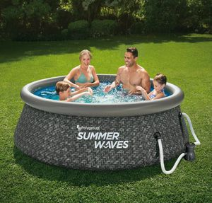 Summer Waves 8ft x 2.5ft Above Ground Inflatable Outdoor Pool with Pump for Sale in La Costa, CA