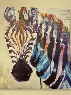 Wall Art (Colorful Abstract Zebra) for Sale in VA, US