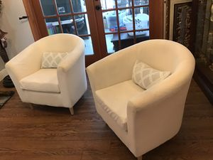 TWO BEIGE CHAIRS FOR HOME OR OFFICE for Sale in Lake Worth, FL