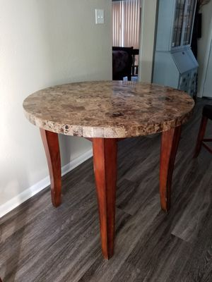 Bistro table 36 high × 40 diameter . Granite top for Sale in Clearwater, FL