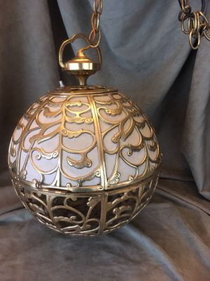 Vintage Solid Brass Hanging Lamp for Sale in Seattle, WA