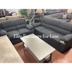 Dark Gray Polyester Sofa And Love Seat for Sale in Chula Vista,  CA