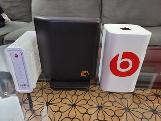 Docsis 3.0 Modem, Apple Router, Seagate External Hard Drive for Sale in Santee,  CA