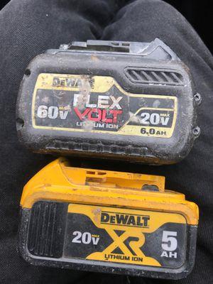 60v/20v flex volt and 20v xr5AH Dewalt batteries for Sale in Wheat Ridge, CO