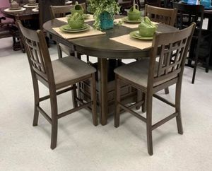 """New 5-PC Grey Counter Height Breakfast Kitchen Table Set """"Thanksgiving Sale"""" for Sale in Sugar Land, TX"""