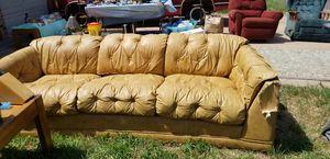 Leather 3 cushion sofa for Sale in Abilene, TX
