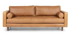 Stylish tan leather couch/sofa from Article for Sale in San Francisco, CA