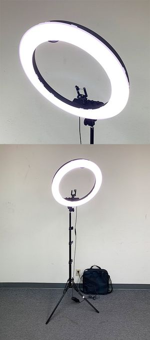 """New $100 each LED 19"""" Ring Light Photo Stand Lighting 50W 5500K Dimmable Studio Video Camera for Sale in Whittier, CA"""
