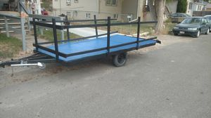 17 foot wood trailer, new lights, and paint for Sale in Pocatello, ID