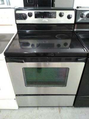 """30"""" Whirlpool gold stainless steel glasstop electric stove for Sale in Miami, FL"""