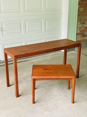 Mid Century Vejle Stole Mobelfabrik Console and Side Table for Sale in Lynnwood, WA