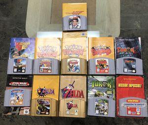 Nintendo 64 N64 Lot Of 17 Games & Instruction Booklets - Zelda Pokémon Etc. for Sale in Boca Raton, FL