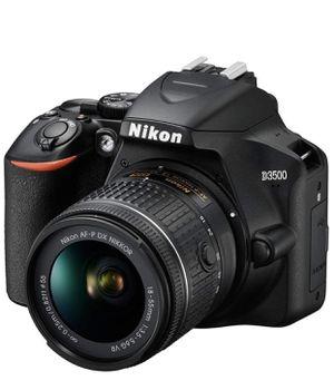 Nikon D3500 24.2MP DSLR Camera with AF-P DX NIKKOR 18-55mm f/3.5-5.6G V R Lens Bundle with 64GB Memory Card, Camera Bag etc for Sale in Brandywine, MD