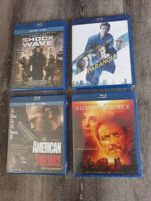 BLU-RAY lot of movies - Action/Thriller Movies - Brand New - Sealed for Sale in Longmont, CO