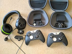 Xbox one elite controller turtle Beach headset for Sale in Seattle, WA