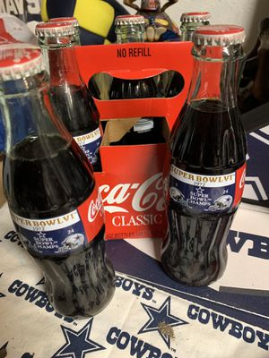 Dallas cowboys supper bowl cokes for Sale in Garland, TX