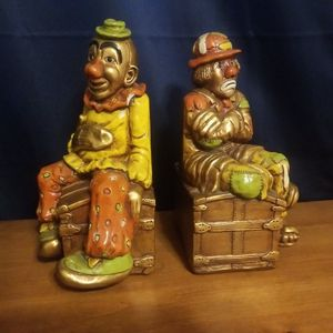Vintage 1970s Clown Book Ends for Sale in Escondido, CA