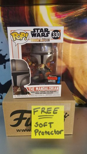Funko Pop! Star Wars The Mandalorian 2019 NYCC Funko Shop + Pop Protector for Sale in Grand Prairie, TX