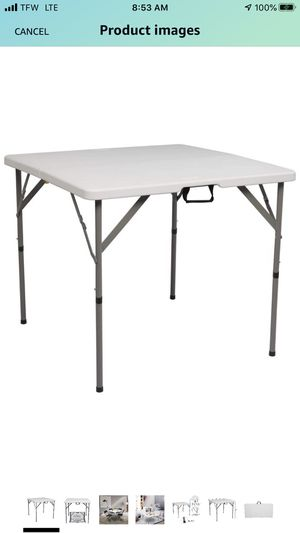 RENT ONLY - Fold in Half Square Table for Sale in Inman, SC