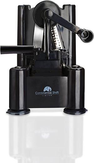 Continental Shift - Smartest Black 3-Blade Zoodler Spiralizer Vegetable Slicer - Veggie Pasta, Noodle, Spaghetti Maker - for Low Carb Paleo Gluten-Fre for Sale in McCalla, AL