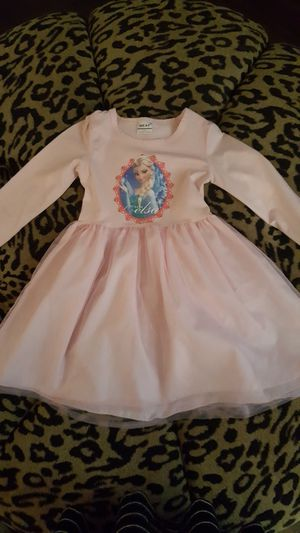 Girls Dress Size 4 5 Disney's Elsa Pink Dress for Sale in Riverview, FL