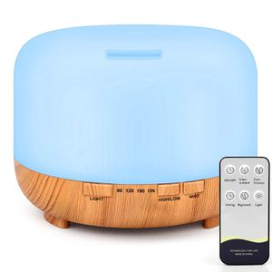 Essential Oil Diffuser, 500ml Remote Control Diffusers for Essential Oils, Ultrasonic Humidifier Aromatherapy Diffuser with 7 Color Changing LED Light for Sale in La Puente, CA