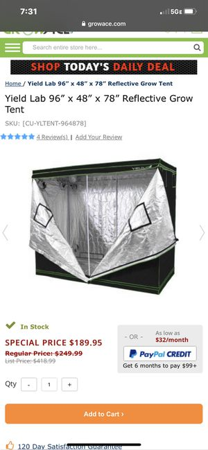 4x8 grow tent for Sale in North Las Vegas, NV