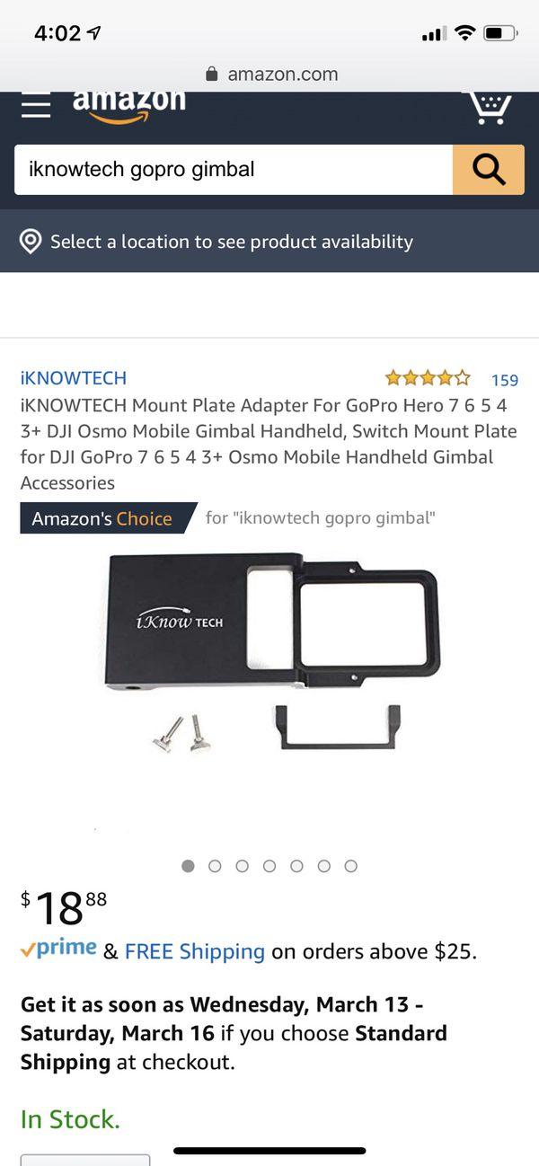 GoPro Gimbal adapter