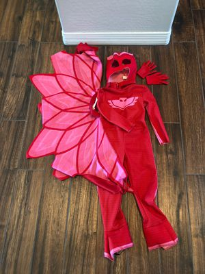 PJ Masks, Owlette Dress Up Costume, with gloves. Toddler Size 3-4T for Sale in Peoria, AZ