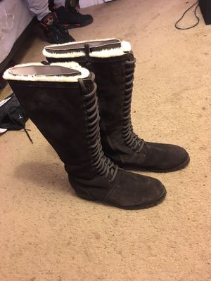 Cole Haan Faux Fur Tall Boots (Brown) for Sale in Alexandria, VA