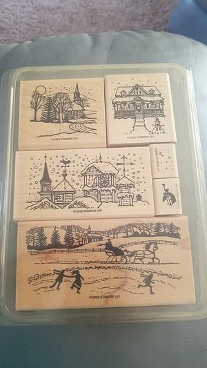 Stampin Up set of 6 Winter Wonderland 2002 for Sale in Clearwater, FL