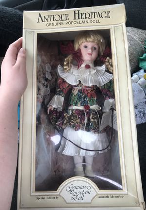 Special edition antique heritage genuine porcelain doll for Sale in Aliquippa, PA