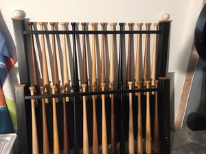 Full Size Baseball Bat Head board Footboard. High quality wood msrp $600 for Sale in Alafaya, FL