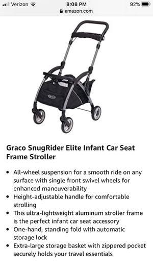 Graco Snugrider Elite car seat frame stroller for Sale in Danvers, MA