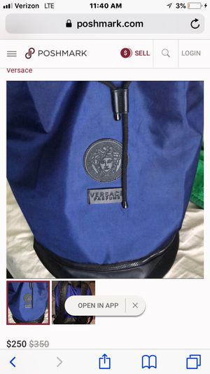 men's versace backpack for Sale in Friendswood, TX