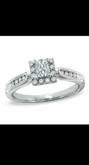 Princess Cut, 1/2 Carat, 14K White Gold, Halo, Size 7 for Sale in San Francisco, CA