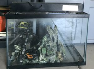 20 gallons Fish tank with decoration inside. for Sale in Citrus Heights, CA