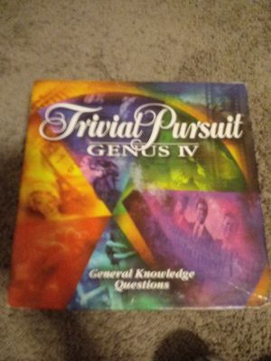 Used board game. TRIVIAL PURSUIT GENUS IV EDITION for Sale in Bixby, OK