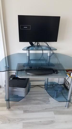 Glass computer desk for Sale in Plantation, FL