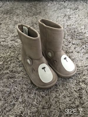 LIKE NEW‼️ TODDLER BABY GIRL BEAR WINTER BOOTS - SIZE 7 for Sale in Houston, TX
