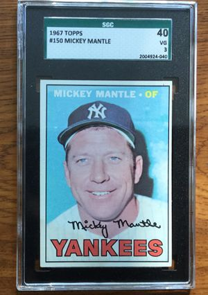 1967 Topps Baseball Card - Mickey Mantle - New York Yankees for Sale in Middleton, MA