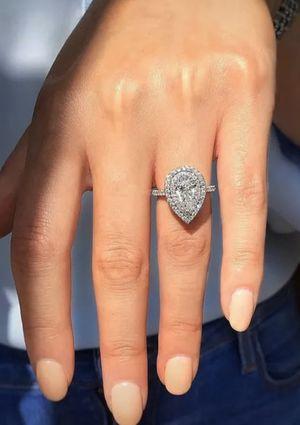 ❤️ON SALE❤️ 925 Sterling Silver Promise Ring- Tear Drop Cut lab Diamond for Sale in Dallas, TX